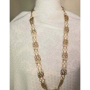 Scroll Detail Necklace - Vintage Costume Jewelry
